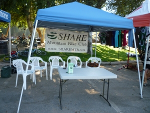 SHARE Booth at the Race